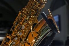 Κλείστε επάνω την εικόνα ενός Saxophone Στοκ εικόνα με δικαίωμα ελεύθερης χρήσης