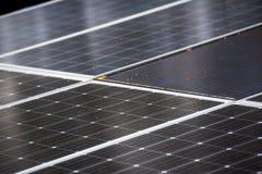 Κλείστε επάνω την εικόνα υποβάθρου ηλιακών κυττάρων Στοκ Φωτογραφίες