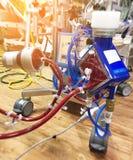 Κλείστε επάνω την οξυγόνωση ECMO μεμβρανών Extracorporeal στους σοβαρά άρρωστους ασθενείς στη μονάδα εντατικής με ένα τεχνητό αίμ στοκ φωτογραφία