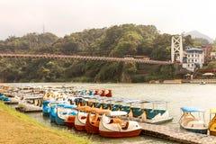 Κλείστε επάνω την περιοχή όχθεων ποταμού Lanscape Bitan στη Ταϊπέι Στοκ Εικόνα