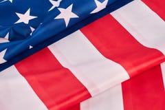 Κλείστε επάνω τη εθνική σημαία των ΗΠΑ Στοκ εικόνες με δικαίωμα ελεύθερης χρήσης