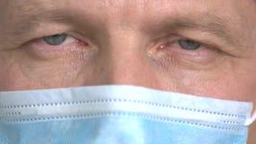 Κλείστε επάνω τις ιδιαίτερες προσοχές γιατρών απόθεμα βίντεο