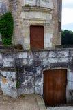 Κλείστε επάνω τις πόρτες του πύργου Chateau de Chenonceau Στοκ Εικόνα