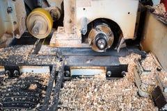 Κλείστε επάνω τους κόπτες άλεσης μετάλλων για την ξυλουργική στοκ εικόνα