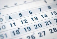 Κλείστε επάνω του επιχειρησιακού ημερολογίου ένδεκα, δώδεκα, δέκα τρία μεταφράζουν: μήνας Δεκεμβρίου στοκ εικόνα