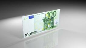 Κλείστε επάνω του ευρο- τραπεζογραμματίου κατά την άποψη περιστροφής απόθεμα βίντεο
