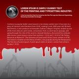 Κλείστε επάνω του κόκκινου αίματος που διαρρέει στην γκρίζα ανασκόπηση Στοκ φωτογραφίες με δικαίωμα ελεύθερης χρήσης