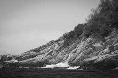 Κλείστε επάνω του νησιού Κλάρας santa, σε γραπτό, το San Sebastian, Ισπανία Στοκ Εικόνα