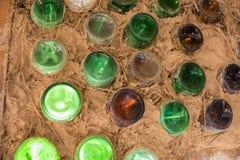 Κλείστε επάνω του τοίχου μπουκαλιών Στοκ Φωτογραφίες