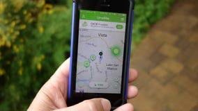 Κλείστε επάνω του Limebike App σε ένα κινητό τηλέφωνο Στοκ φωτογραφία με δικαίωμα ελεύθερης χρήσης