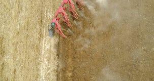 Κλείστε επάνω το βλαστό των βωλοκόπων - γεωργικός εξοπλισμός απόθεμα βίντεο
