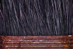 Κλείστε επάνω το μακρο πυροβολισμό των σκουριασμένων βουρτσών χρωμάτων Εκλεκτής ποιότητας αναδρομικό grunge και σκουριασμένο κατα στοκ εικόνες