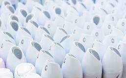 Κλείστε επάνω των αποσμητικών πλαστικών καλυμμάτων στην υπεραγορά Στοκ Εικόνα