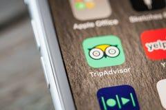 Κλείστε μέχρι app στο iPhone 7 την οθόνη Στοκ εικόνα με δικαίωμα ελεύθερης χρήσης