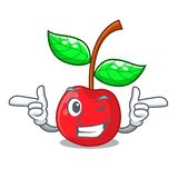 Κλείστε το μάτι κεράσι φρούτων επάνω από τον ξύλινο πίνακα χαρακτήρα ελεύθερη απεικόνιση δικαιώματος