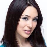 κλείστε το χαριτωμένο πρόσωπο - επάνω νεολαίες γυναικών Στοκ Εικόνες