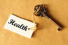 κλειδί υγείας για Στοκ Φωτογραφία