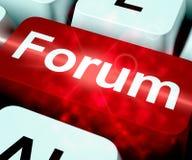 Κλειδί φόρουμ για την κοινωνική κοινοτική τρισδιάστατη απόδοση μέσων ελεύθερη απεικόνιση δικαιώματος