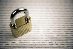 Κλειδαριά και δυαδικός κώδικας Στοκ εικόνες με δικαίωμα ελεύθερης χρήσης
