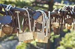 Κλειδαριές αγάπης σε Huangshan, επαρχία Anhui, Κίνα Στοκ φωτογραφίες με δικαίωμα ελεύθερης χρήσης