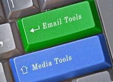 Κλειδιά για το μάρκετινγκ των εργαλείων Στοκ Φωτογραφίες