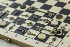 Κλειδιά και ελεγκτές Antiquarian Στοκ Εικόνες