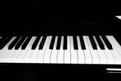 Κλειδιά πιάνων σε ένα πιάνο στοκ εικόνα με δικαίωμα ελεύθερης χρήσης