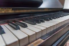 Κλειδιά πιάνων σε μια σειρά Στοκ φωτογραφία με δικαίωμα ελεύθερης χρήσης
