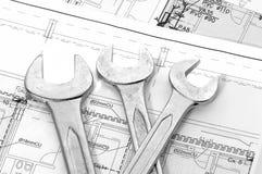 κλειδιά σχεδίων σπιτιών Στοκ εικόνα με δικαίωμα ελεύθερης χρήσης