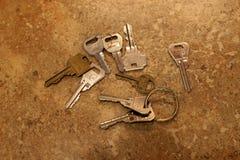 Κλειδιά countertop στοκ εικόνες