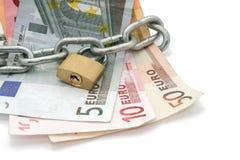 κλειδωμένα χρήματα Στοκ Φωτογραφίες