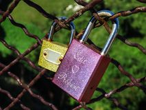κλειδωμένη αγάπη Στοκ Φωτογραφία