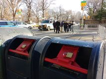 Κλειδωμένη ταχυδρομική θυρίδα, ταχυδρομικό κουτί, NYC, Νέα Υόρκη, ΗΠΑ Στοκ Εικόνες