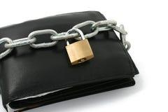 κλειδωμένο πορτοφόλι Στοκ φωτογραφία με δικαίωμα ελεύθερης χρήσης