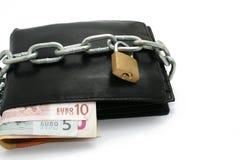 κλειδωμένο πορτοφόλι Στοκ εικόνες με δικαίωμα ελεύθερης χρήσης