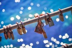 Κλειδώματα για την καλή τύχη Στοκ Εικόνες