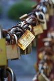 Κλειδώματα στην αλυσίδα Στοκ Εικόνα