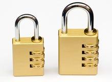 κλειδώματα συνδυασμού Στοκ εικόνα με δικαίωμα ελεύθερης χρήσης