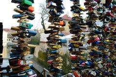 Κλειδώματα της αγάπης, Πράγα Στοκ φωτογραφίες με δικαίωμα ελεύθερης χρήσης