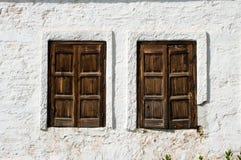 κλειστά αγροτικά Windows ρυμού&l Στοκ Εικόνα