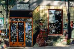 Κλειστά γκράφιτι καταστημάτων Στοκ Εικόνες
