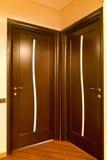 κλειστές πόρτες δύο ξύλιν&eps Στοκ φωτογραφίες με δικαίωμα ελεύθερης χρήσης