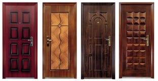 κλειστές πόρτες τέσσερα &si Στοκ Εικόνες