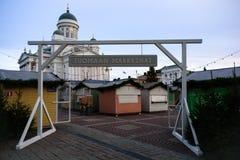 Κλειστή αγορά Χριστουγέννων του Ελσίνκι στοκ εικόνα με δικαίωμα ελεύθερης χρήσης