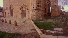 Κλειστή εκκλησία του Άγιου Βασίλη μέσα στο φρούριο Famagusta απόθεμα βίντεο