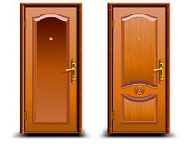 κλειστή πόρτα διανυσματική απεικόνιση