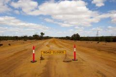 κλειστός δρόμος Στοκ Φωτογραφίες