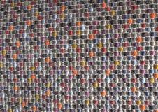 Κλειστός επάνω της τετραγωνικής σύστασης του ζωηρόχρωμου σχεδίου ύφανσης καλαθιών Στοκ Φωτογραφίες