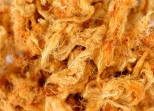 Κλειστός επάνω του ξηρού τεμαχισμένου χοιρινού κρέατος, νήμα χοιρινού κρέατος στοκ εικόνες με δικαίωμα ελεύθερης χρήσης