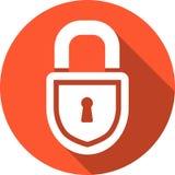 Κλειστό εικονίδιο κλειδαριών Στοκ φωτογραφίες με δικαίωμα ελεύθερης χρήσης